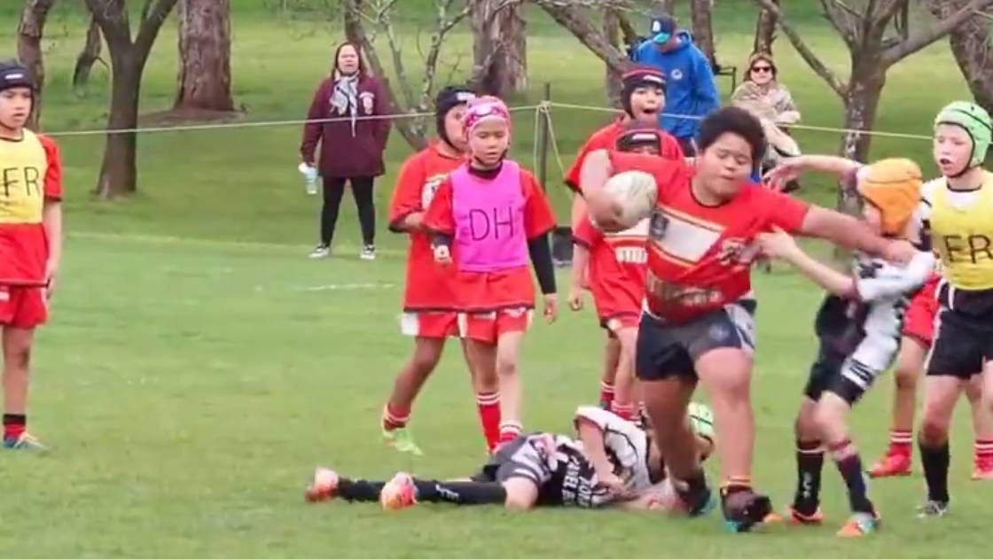 A nine-year-old Rugby League player has dominated a recent tournament in Canberra. Source: Facebook/Moroni Martin