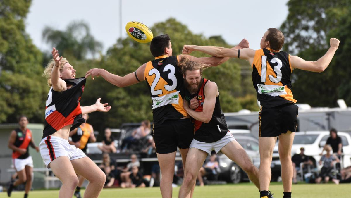 Pinjarra and Waroona will clash in their annual Mental Health game this weekend. Photo: Justin Rake.