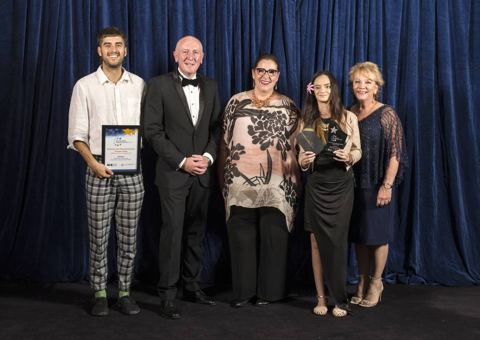 The Valued Lives Microenterprise Project Team were recognised at the WA Disability Support Awards for helping an emerging Mandurah fashion designer set up her own fashion range and kick start her modelling career. Photo: Supplied.