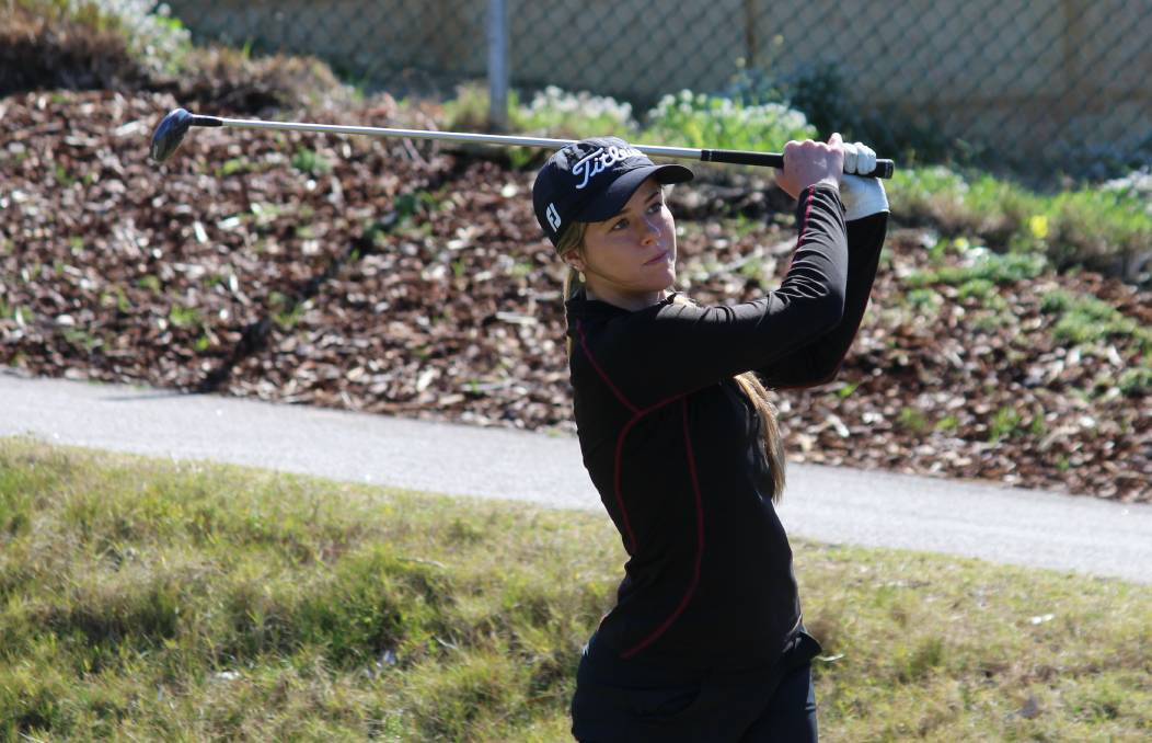 READY TO ROLL: Talented Mandurah young gun Kathryn Norris will compete in the WA Open across three days at Royal Fremantle Golf Club this coming weekend. Photo: Supplied.