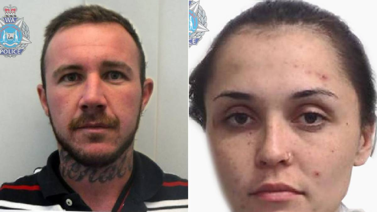 Police are on the lookout for Alec Martin and Savannah Chatfield. Photos: WA Police.