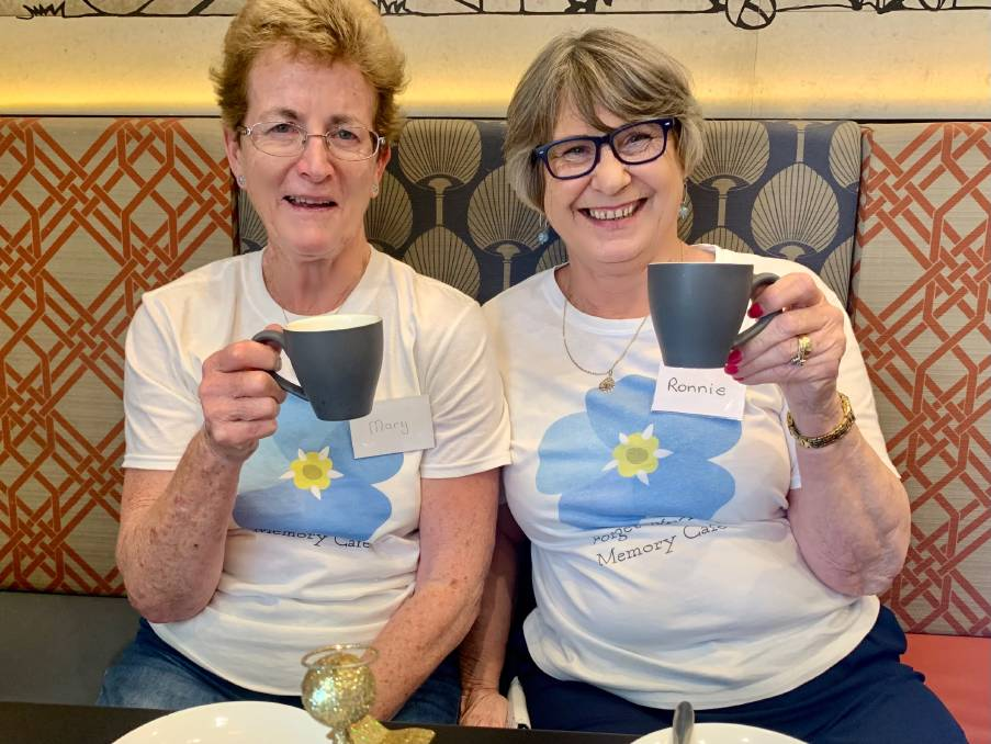 Forget-Me-Not Memory Cafe organisers Mary and Ronnie are inviting people living with dementia and their carers to join them for a cuppa. Photo: Supplied.