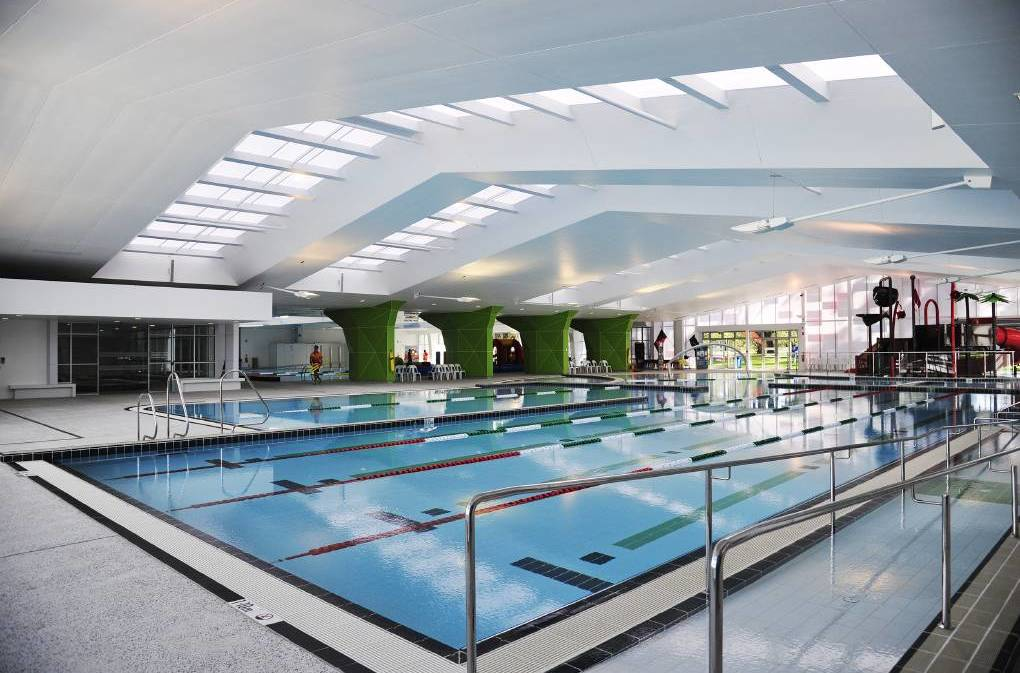 Aquatic centre: The indoor pool at the MARC on opening day, 2015. Photo: Richard Polden.