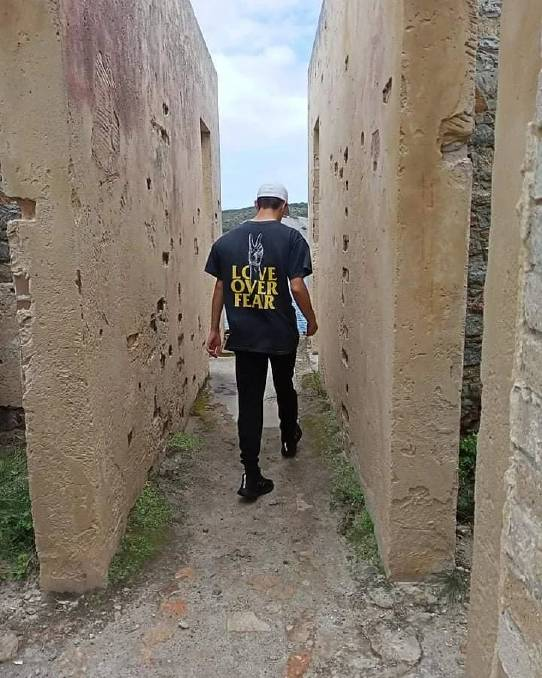 Love over fear: Luke exploring at Point King lighthouse ruins in Albany. Photo: Supplied.