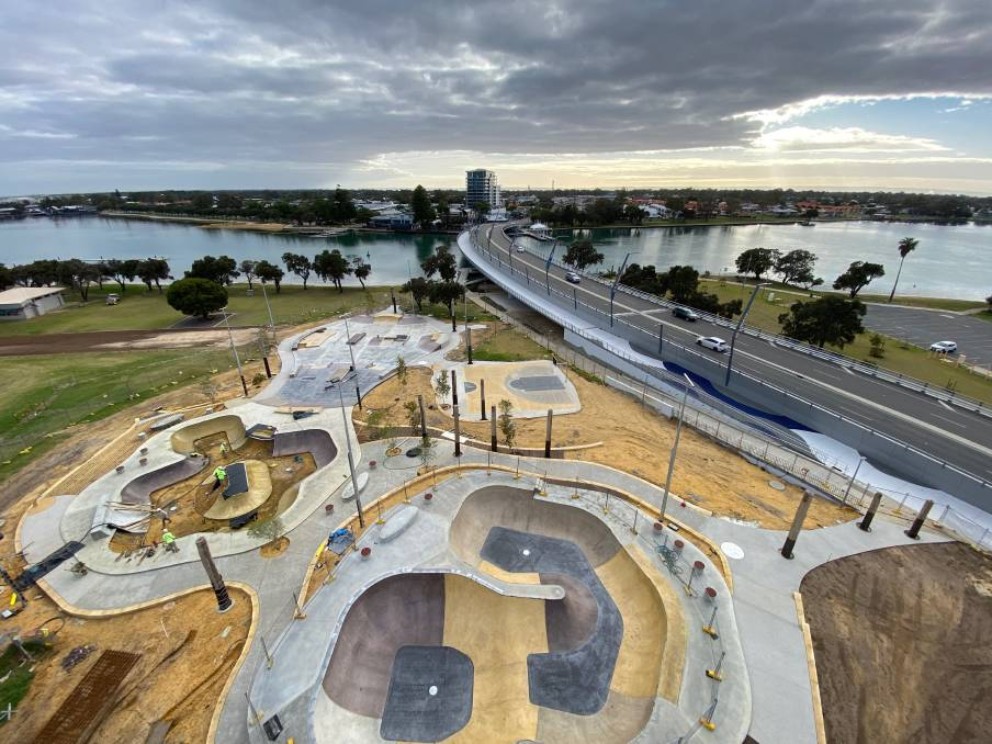 Skate park: The first major project of Mandurah's foreshore redevelopment will be officially opened on Wednesday, December 16. Photo: Supplied.
